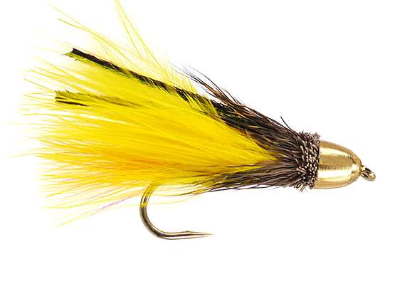 Yellow Muddler Marabou Conehead
