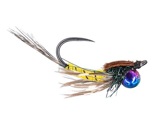 Classic Jig Off Mayfly Nymph TG BL Yellow