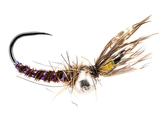 Toms Preferred Yellow Jig Off Caddis Larva TG BL